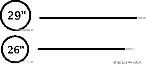 Secção transversal igual, pneus diferentes, volumes diferentes